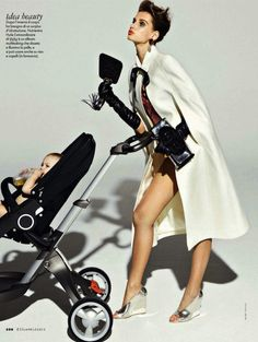"The Terrier and Lobster: ""Mommy Dearest"": Giedre Dukauskaite by Mark Pillai for Elle Italia April 2013"