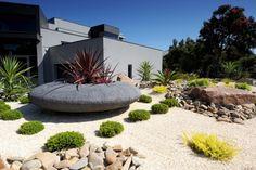 Love the huge pebble shaped planter