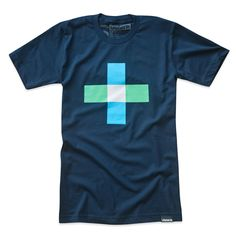 Fab.com | Plus Minus Tee Blue