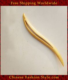 Luxury Solid Mahogany Hair Accessories Stick Pin 100% Hand Carved Wood Art #136 http://www.chinesefashionstyle.com/hair-accessories/