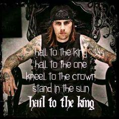 Hail to the King - Avenged Sevenfold Lyrics Music Love, Music Is Life, My Music, Amazing Music, Music Stuff, Great Bands, Cool Bands, Avenged Sevenfold Quotes, Matt Shadows