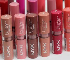 NYX Butter Lipsticks Swatches @Luuux