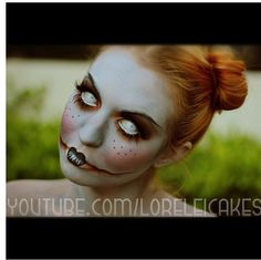 Creepy doll makeup http://youtu.be/1XFYTT1dYKE