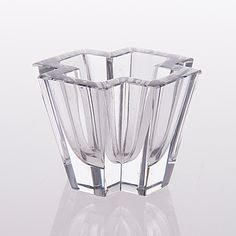 TAPIO WIRKKALA - Glass vase '3900'. To benefit the The Finnish Red Cross in 1955. [h. 5,5 cm, w. 7 cm]