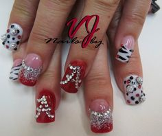 #Alabama #Zebra Nails #Sparkle Nails