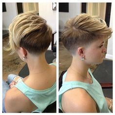 Cool Taper Fade Undercut Pixie  Haircut By @dillahajhair  #UCFeed #BuzzCutFeed #Undercut #Undercuts #PixieCut ...
