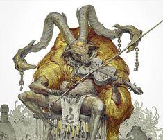 The Sound- Naranu tribe, Golden Sheep, Carlyn Lim Character Art, Character Design, Monster Design, Creature Concept, Creature Design, Dark Fantasy, Art Inspo, Sheep, Illustration Art