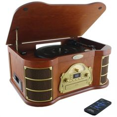 Pyle Home Bluetooth Vintage Style Turntable