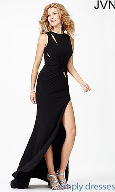 Long High Neck Gown JVN3062 from JVN by Jovani