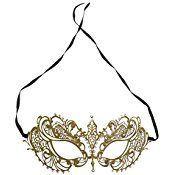 Mardi Gras Gold Opera Party Mask, Costume Accessory, Theater by Super Z Outlet