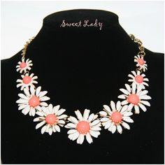 Statement #necklace #flower https://www.facebook.com/pages/Sweet-Lady/208753725975495?ref=hl