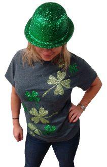 Shamrocks Glitter Top, super cute for St. Patty's Day!