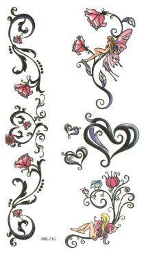 fairy vines roses heart tattoo ideas