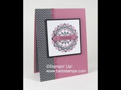 VIDEO - Lining Up the Make A Medallion Stamps - Barbstamps!! Barb Mullikin Stampin' Up! Demonstrator