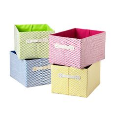 Large Gingham Storage Bin - yellow, use two for base of Pottery Barn Kids Cameron Storage System