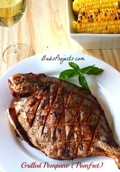 Grilled Pompano (Pomfret). You will not believe how easy it is to make.