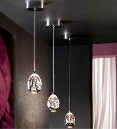 Colgantes de acero con leds coleccion arian 7 luces - Lamparas schuller catalogo ...
