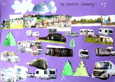 Groepswerk maak je eigen camping met kleuters, thema kamperen, kleuteridee