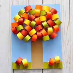 Fall crafts for Kids -Fun and easy arts and crafts projects. Pumpkin crafts, fall art projects, Halloween crafts, fall leaf crafts for kids of all ages. Fall Paper Crafts, Fall Arts And Crafts, Easy Fall Crafts, Spring Crafts, Diy Paper, Tissue Paper, Fall Crafts For Toddlers, Toddler Crafts, Kids Crafts