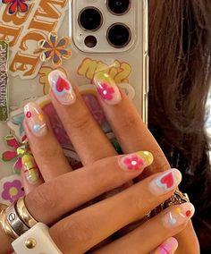 Nail Design Glitter, Nails Design, Gel Nails, Nail Polish, Nail Manicure, Acylic Nails, Funky Nails, Funky Nail Art, Fire Nails