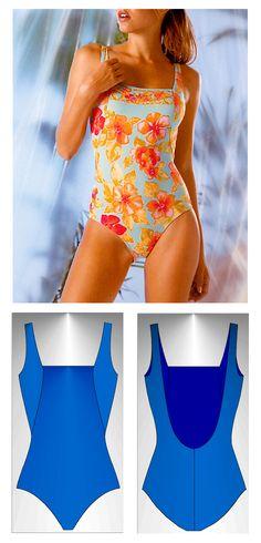 Swimsuit sewing pattern Corfú - Patrón de traje de baño Corfú Sewing Lingerie, Jolie Lingerie, Sewing Clothes, Diy Clothes, Monokini Swimsuits, Bikinis, Apparel Design, Dance Wear, Dressmaking