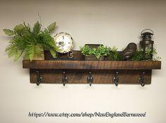 Coat Rack With Floating Shelf Modern Farmhouse Rustic Entryway