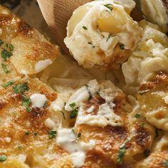 This yummy garlic scalloped potatoes recipe with a crispy cheese topping.. Garlic Scalloped Potatoes Recipe from Grandmothers Kitchen.