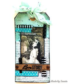Made by Sannie: Metropolitan Love Story tag with video tutorial - #sssmchallenge - take the leap and join us @Simonsaysstamp Monday Challenge!