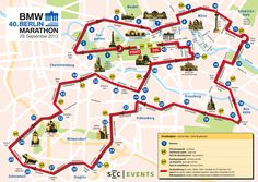 #Berlin Marathon 2013 #Strecke / #Course / #Map