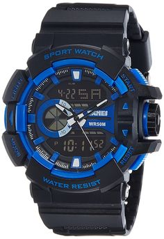 270cc4da3d7 Buy SKMEI Analog-Digital Black Dial Men s Watch-AD1117 (BLK-BLU) Online at  Low Prices in India - Amazon.in
