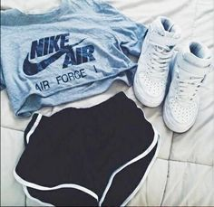 Trendy how to wear nike air force outfit high tops ideas Teen Fashion Outfits, Nike Outfits, Outfits For Teens, Sport Outfits, Trendy Outfits, Fall Outfits, Summer Outfits, Fashion Shoes, Nike Fashion