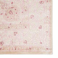 Fontanne Oriental Pink/White/Cream Area Rug – Area Rugs in bedroom White Rug, White Area Rug, Pink White, Pink And Blue Rug, Pink Ottoman, Jaipur Rugs, Border Pattern, Rectangular Rugs, Nursery Rugs