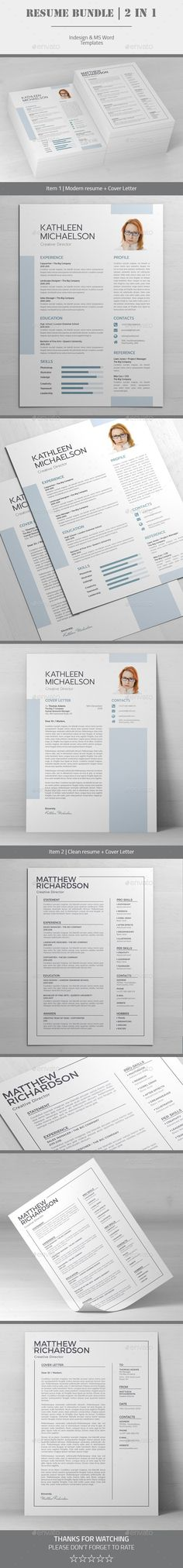 Buy Resume by SuperMegaMC on GraphicRiver. Resume Bundle / 2 in 1 2 professional and creative resume templates. All graphic and icons included (you just need to. Indesign Resume Template, College Resume Template, Resume Design Template, Creative Resume Templates, Resume Words Skills, Resume References, Teaching Resume, How To Make Resume, Good Resume Examples
