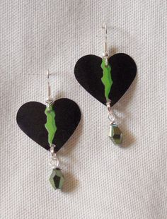 Recycled Aluminum Can Earrings Monster Energy by FromMyCottage, $4.50