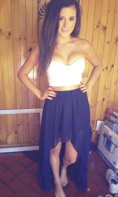 high-low skirt find more women fashion ideas on www.misspool.com