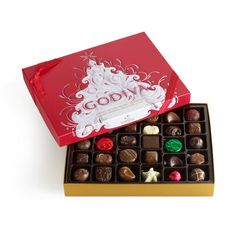 Holiday Chocolate and Truffle Gift Box Types Of Chocolate, Chocolate Gifts, Chocolate Box, Chocolate Truffles, Delicious Chocolate, Chocolate Lovers, Chocolate Candies, Belgian Chocolate, Godiva Chocolatier