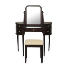 Lamont Home Chelsea Vanity Set in Espresso - BedBathandBeyond.com?  I love this!!