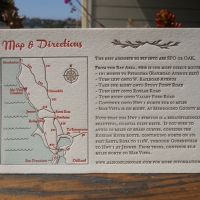 We both really like this direction card. Love the map with turn by turn