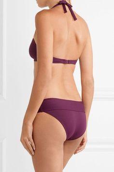 cf5d78fe1d Eres - Les Essentiels Bandito Triangle Bikini Top - Burgundy Triangle  Bikini Top