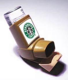 Starbucks Caffeine Inhaler….. @Amal Hamdan we need one of these.