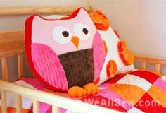 Snuggly Owl tutorial (including free pattern pieces)