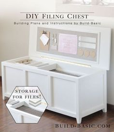 building plans and instructions for a diy filing chest complete with lots of extra storage options