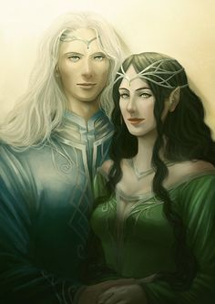 Commission: Melian and Thingol by AlaisL.deviantart.com on @DeviantArt