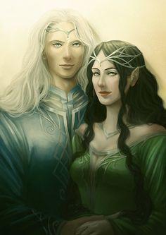 Commission: Melian and Thingol by AlaisL on deviantART. Thingol was 9 feet tall! How did those dwarves kill him?