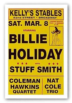 """Billie Holiday - Limited Edition Serigraph"" - Reproduction Vint Billie Holiday, Kelly Stables, Lady Sings The Blues, You Rock My World, Band Posters, Music Posters, Blue Poster, Jazz Festival, Jazz Blues"