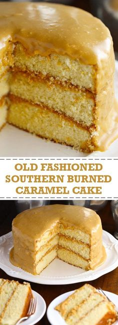 Southern Recipes Old Fashioned Southern Burned Caramel Cake Southern Desserts, Just Desserts, Dessert Recipes, Southern Caramel Cake, Carmel Desserts Easy, Southern Pound Cake, Southern Recipes, Salty Cake, Savoury Cake