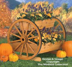 Wagon Wheel Planter Wood Plan