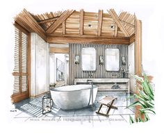 Hawaii Resort Bathroom Rendering