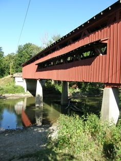 Covered Bridges in the state of Indiana  -  Travel Photos by Galen R Frysinger, Sheboygan, Wisconsin