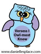 Verses I Owl-most Know  - directions on  www.daniellesplace.com